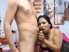 deepthroat blowjob and intense fucking of couple