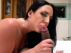 brunette pornstar pov and jizz in mouth