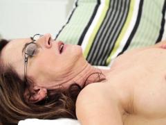 mature lady sperm sprayed