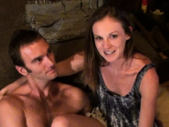 adorable brunette blowing penis and getting rammed