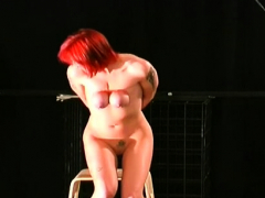 enslaved pretty hottie tit torture s&m