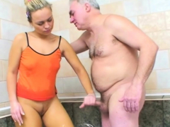 awesome woman is into old dudes and their hard dongs