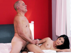 Old4k. Comely Girl And Bald Daddy Spend Free Time In Bedroom