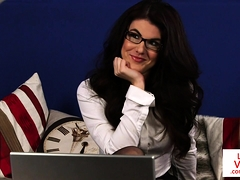 cfnm-spex-babe-blackmails-sub-guy-in-joi