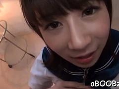 Inviting idol Yuumi Nagasaku enjoys sex with a random fellow