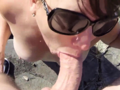 mature-cum-in-beach