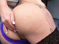 Busty Latin Shemale Assfucked and Facialized