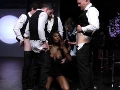 Ebony Slut Swallows Sperm