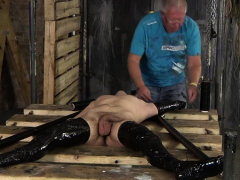 Master Sebastian prepares his latest subject as hung young