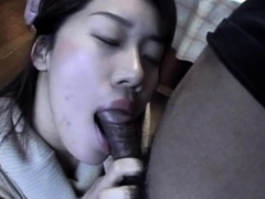 Sensual blowjob from a youthful japanese schoolgirl