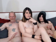 Hot shemales Enjoy this orgy party live