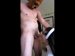 Femboy Nun in Chastity Services a Stud
