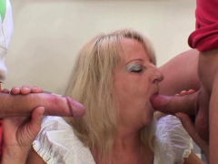 her-old-blonde-mother-enjoys-two-big-cocks