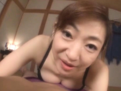 Hardcore asian cookie licking and fucking with mature chick