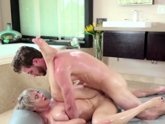 Beautiful masseuse Dee Williams rides a raging cock