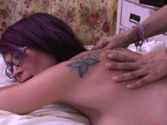 Sensual massage with two gorgeous shemales ended in sex