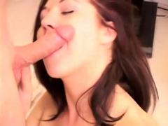 Cute Brunette Michelle Sucks And Fucks Martin's Cock