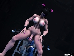 Hot ass futa babes having sex with each other nicely