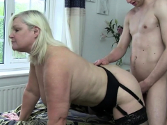Bent over brit granny gets pussy banged