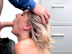 Shoplifter Paisley Bennett gets her mouth and pussy fuck