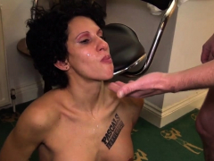 Bound mature submissive gets untied for fuck
