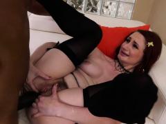Huge black dick fucks a hairy slut Violet Monroe