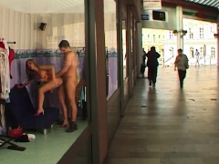 rough public anal at the shopping mall