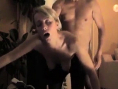 Half-dressed Blonde Amateur Being Fucked From Behind