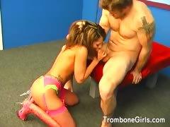 hottie-licking-her-mans-balls-and-ass