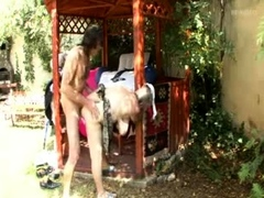 blonde-hirsute-granny-outdoor-anal