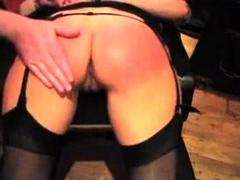 Homemade anal dildo spanking fisting bdsm in hotel