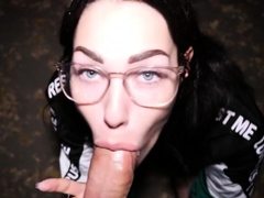 Cute Girlfriend Gives Nice Pov Blowjob And Tit Cumshot