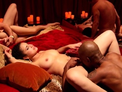 Her hubby is planning a bonus trip To a swinger club