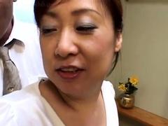 mature asian plays inside her panties for camera