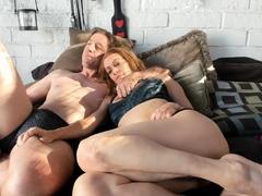 big-boobed-blonde-milf-in-sheer-lingerie-and-heels-fingering