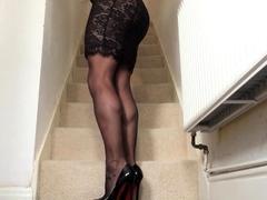 Classy black lace .