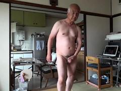 japanese-old-man-masturbation-erect-penis-semen-flows