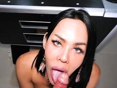 Big boobs ladyboy Lanta anal fucked from behind