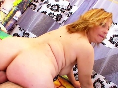 Chubby Big Saggy Tits Mom Seduce Friend of Son to Fuck