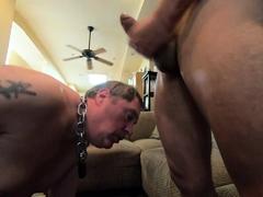 loyal slave jizzbag servicing it's master