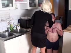Young Mistress teach her human pet