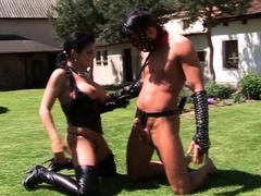 leather-mistress-fuck-her-slave-outdoor