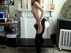 Awesome Redhead Stripping