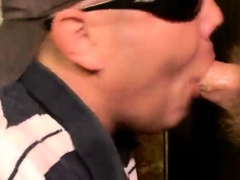 Choking down a married cock's load (HM)