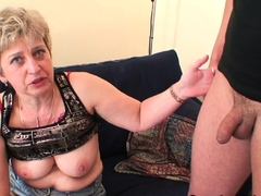 Cock-hungry old lady begging for double penetration