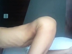 asian hunk fucking bare on bed his man (2'57'')