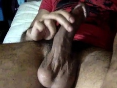 STUD PLAYING WITH HIS HUGE MEXICAN BULL BALLS