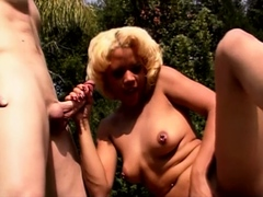 Outdoor Wild Fucking With Blonde Latina Stepsis
