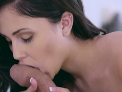 Awesome Ariana Marie attacks meat with mouth
