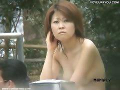 Japanese Women Taking A Bath
